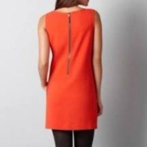 Loft Orange Mini dress with back zip and pockets